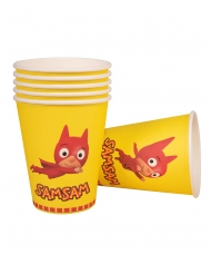 6 Gobelets en carton SamSam™ 250 ml