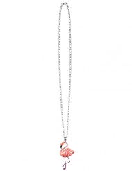 Collier en métal flamant rose adulte