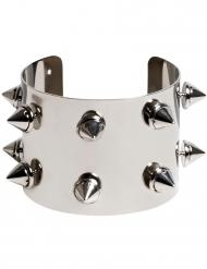 Bracelet en métal punk argenté adulte