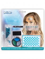 Kit maquillage sirène bleue adulte