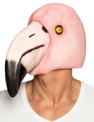 Masque intégral en latex flamant rose adulte