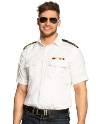 Chemise capitaine blanche homme