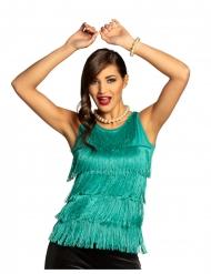 Débardeur à franges turquoise femme