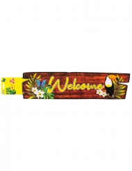 Décoration murale welcome toucan 60 x 13 cm
