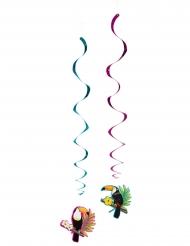2 Suspensions spirales toucan 85 cm