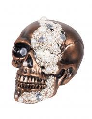 Décoration crâne orné diamants 16 x 15 x 21 cm