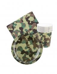 Kit vaisselle jetable militaire 24 pièces
