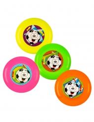 Accessoires piñata 4 frisbees multicolores 9 cm