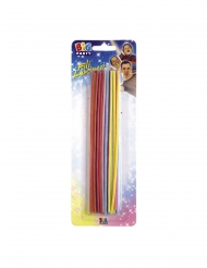 20 Bougies colorées assorties 16 cm