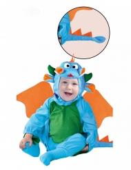 Déguisement dragon bleu bébé