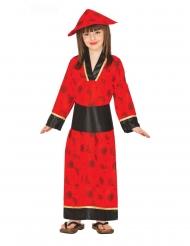Déguisement kimono rouge fille