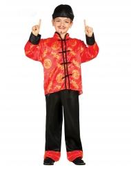 Déguisement chinois rouge garçon
