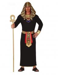 Déguisement pharaon noir et doré homme