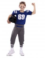 Déguisement joueur de football américain bleu enfant