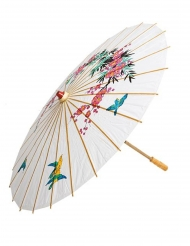 Ombrelle chinoise blanche en papier 56 cm