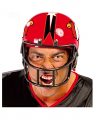 Casque joueur football rouge adulte