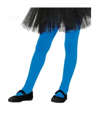 Collants bleus opaques fille
