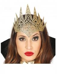 Diadème méchante reine dorée adulte