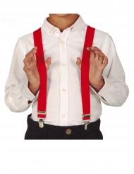 Bretelles rouge enfant