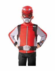 Top et masque rouge Power Rangers™ enfant