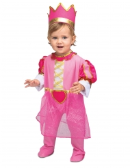 Déguisement avec couronne princesse rose bébé