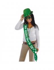 Écharpe satinée humoristique Saint Patrick