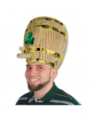 Chapeau tonneau de bière avec trèfles adulte