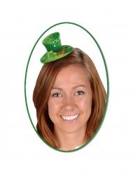 Mini chapeau haut de forme avec sequins femme