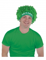 Perruque afro verte Happy Saint Patrick
