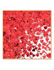 Confettis de table cœurs rouges métallisés 14 g