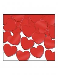 Confettis de table cœurs rouges 28 g