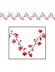 Guirlande en plastique modulable cœurs rouges 7 m