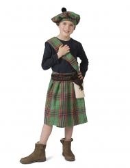 Déguisement écossais vert enfant