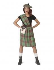 Déguisement écossaise verte femme