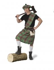 Déguisement écossais vert homme