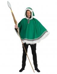 Poncho esquimau vert homme