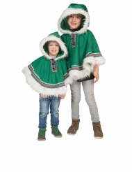 Poncho esquimau vert bébé