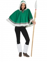 Poncho esquimau vert femme