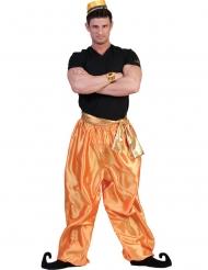 Pantalon doré danseur homme