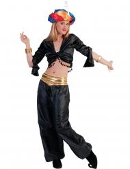 Top noir danseuse femme