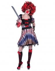Déguisement robe clown femme