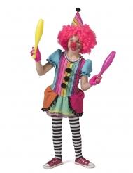 Déguisement clown joyeux arc-en-ciel fille