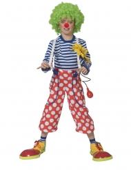 Pantalon clown à bretelles enfant