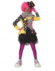Veste clown multicolore femme
