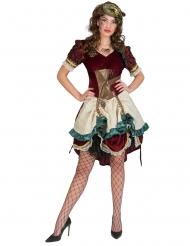 Déguisement robe steampunk aventurière femme