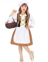 Déguisement servante du Moyen-Age fille