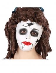 Masque poupée fissurée adulte