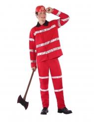 Déguisement de pompier rouge adolescent