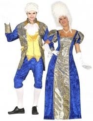 Déguisement de couple marquis bleus adulte