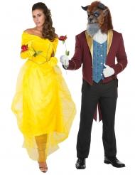 Déguisement de couple Belle princesse princesse et sa Bête
